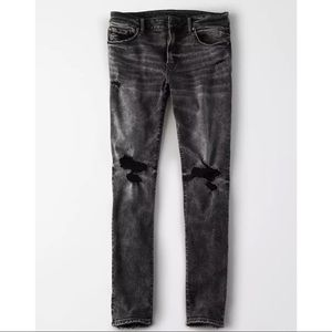 American Eagle Slim Jeans Distressed Washed Black